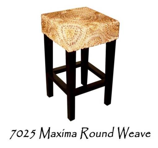 Maxima Round Weave Wicker Bar Stool