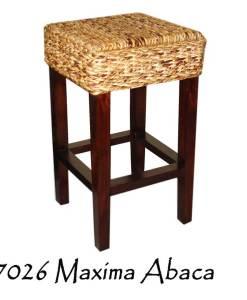 Maxima Abaca Woven Bar Stool