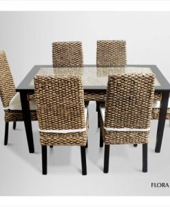 Flora Wicker Dining Set