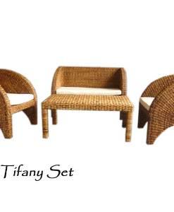 Tifany Wicker Living Set