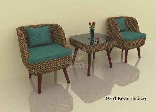 Kevin Wicker Terrace Set
