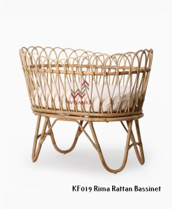 Rima Rattan Bassinet with cushion cushion Tampak Perspektif