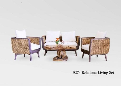 Beladona Wicker Living Set