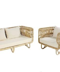Paula Rattan Sofa and Chair