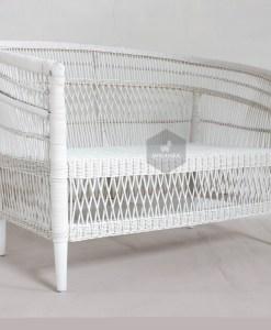 Morroco Rattan Sofa White