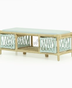 Molar rattan kids bench with storage