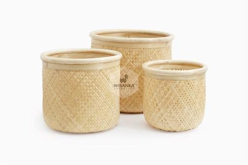 Fresia Round Rattan Basket Set of 3