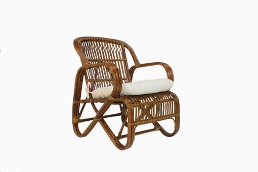 Sugar Rattan Arm Chair Brown