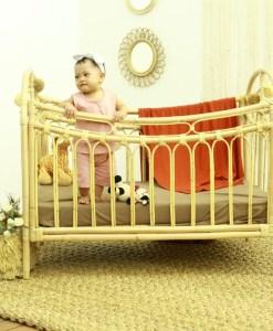 سرير أطفال روطان قوس قزح