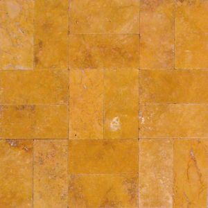 Gold Travertine Tumbled French (Versailles) Pattern Paver