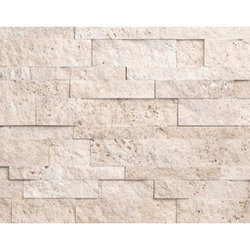Ivory Travertine Ledger Veneer Panel