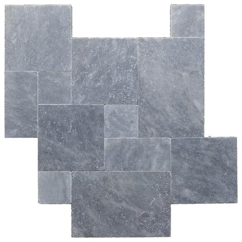 King BlueStone Marble Tumbled French (Versailles) Pattern Tile