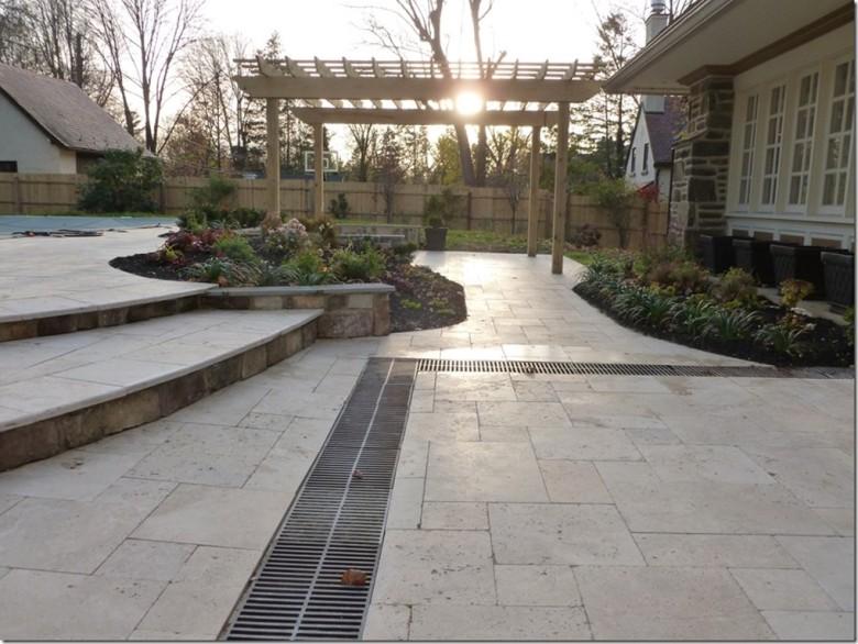Tuscany Beige Travertine pavers outdoor stone Menlo Park