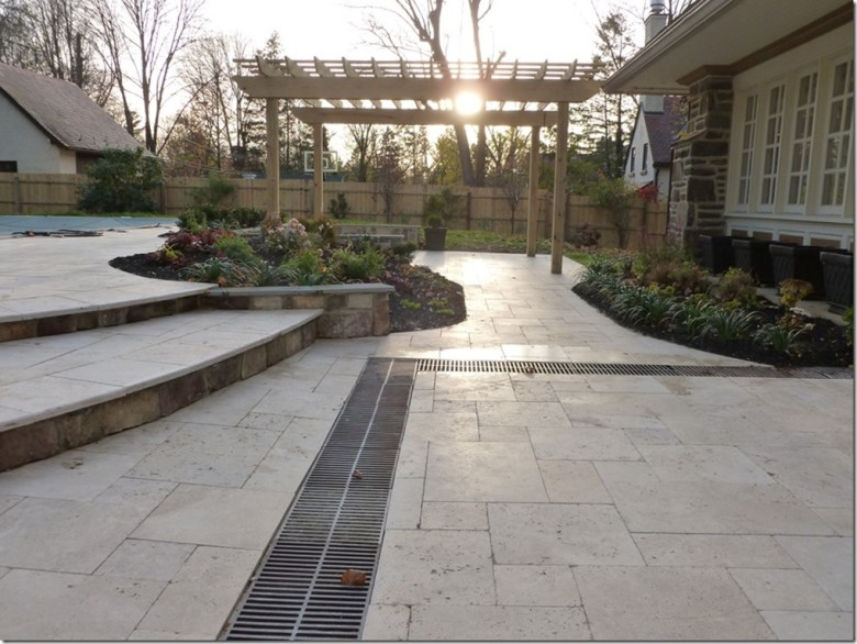 Tuscany Beige Travertine pavers outdoor stone Menlo Park