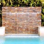 California gold ledger stone veneer panels waterfall San Jose
