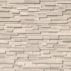 White Oak 3D Honed Stacked Stone Ledger Panel