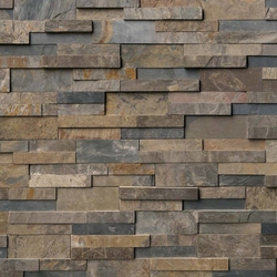 Rustic Gold Stacked Stone Ledger