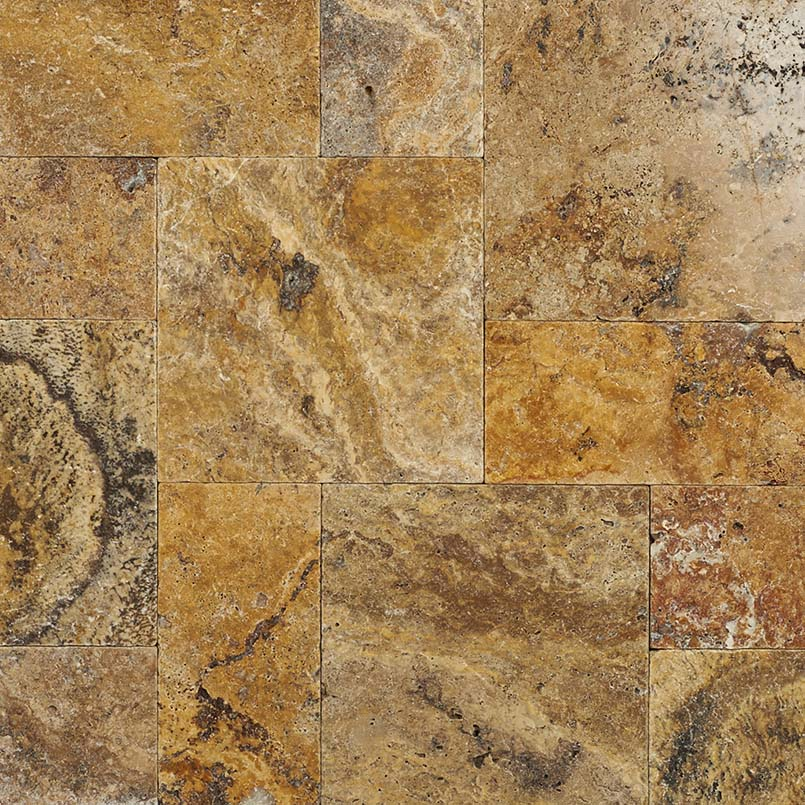 Tuscany Scabas Travertine Tumbled Pavers