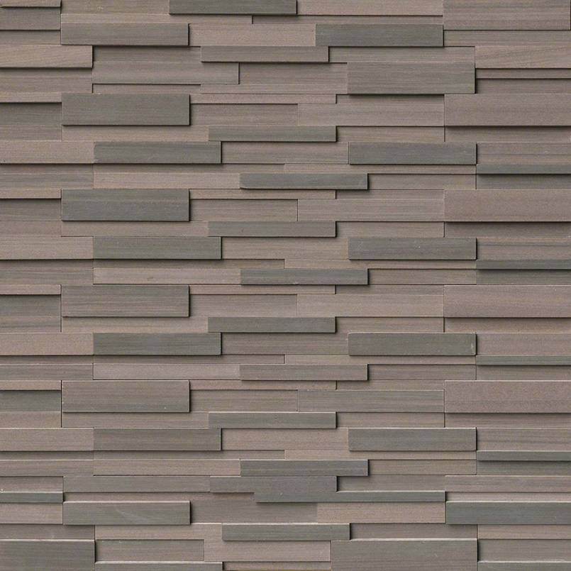 Brown Wave Stacked Stone Panels