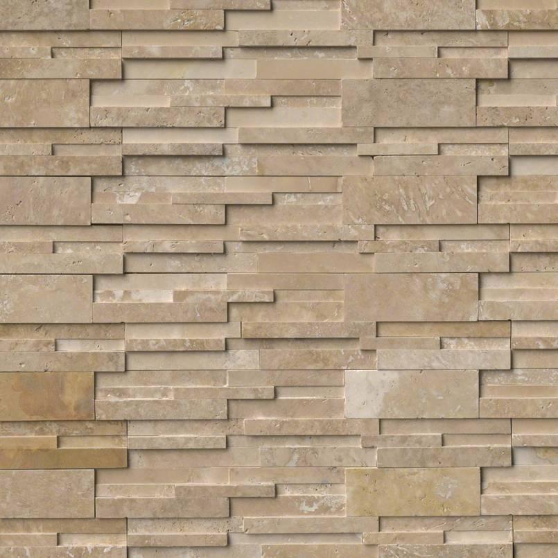 Durango Cream 3D Honed Stacked Stone Panels