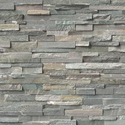 Sierra Blue Stacked Stone Panels