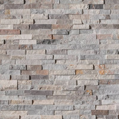 Sunset Silver Stacked Stone Panels