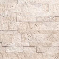 Ivory Travertine Stacked Stone Ledger Veneer Panels