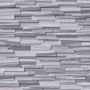 Alaska Gray 3D Honed Stacked Stone Panels
