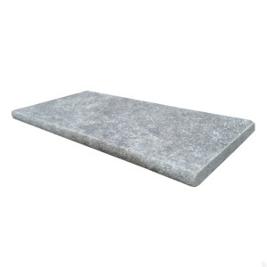 Silver grey travertine pool coping LCOPTSIL1224HUF