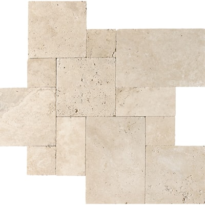 Ivory Travertine Tumbled French Pattern Tile