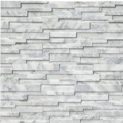 Calacatta Cressa 3D Honed Stacked Stone Panel LPNLMCALCRE624-3DH
