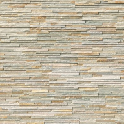 Golden Honey Pencil Stacked Stone Panels