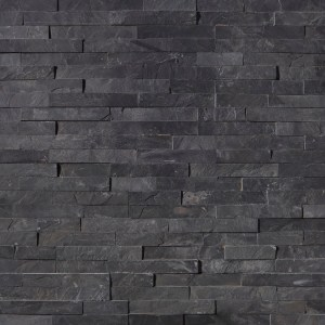 Premium Black Stacked Stone Ledger Panels