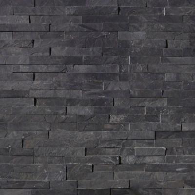 Premium Black Stacked Stone Ledger Panels