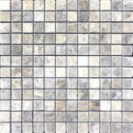 "1""x1"" Silver Travertine Mosaic"
