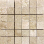 "2""x2"" Cappuccino Marble Mosaic"