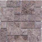 Silver Travertine Tumbled Mini Pattern Mosaic