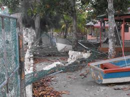 Tsunami damage in Haiti.