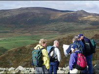 Walking in the Breamish Valley, Northumberland National Park. Image NNPA