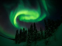 Aurora Borealis fills the evening sky with colour. Pic Astronomy North http://astronomynorth.com/