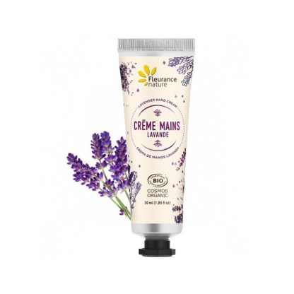Organic Lavender Hand Cream Made in France by Fleurance Nature