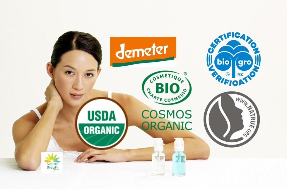 Certified Organic Cosmetic Logos