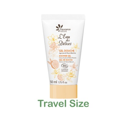 Organic Citrus Shower Gel Travel Size by Fleurance Nature