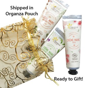 Organic Hand Cream Gift Set Pouch by Fleurance Nature