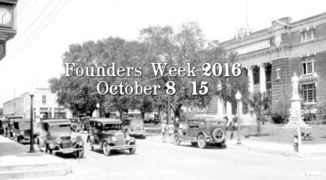 Brooksville's Founders Week Schedule of Events Oct. 8-15