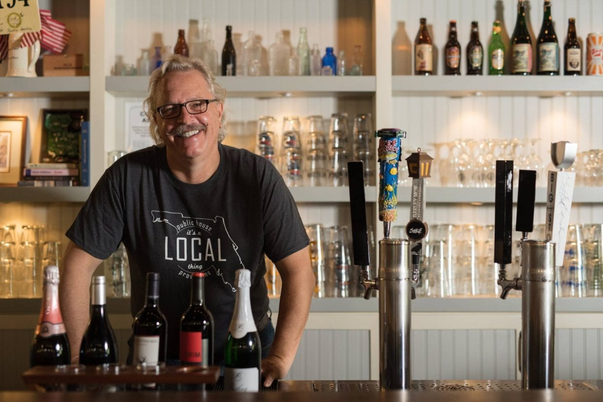 Curtis Beebe works hard to bring fresh, locally grown ingredients to his restaurants. Here he is at Local Pub in San Antonio.