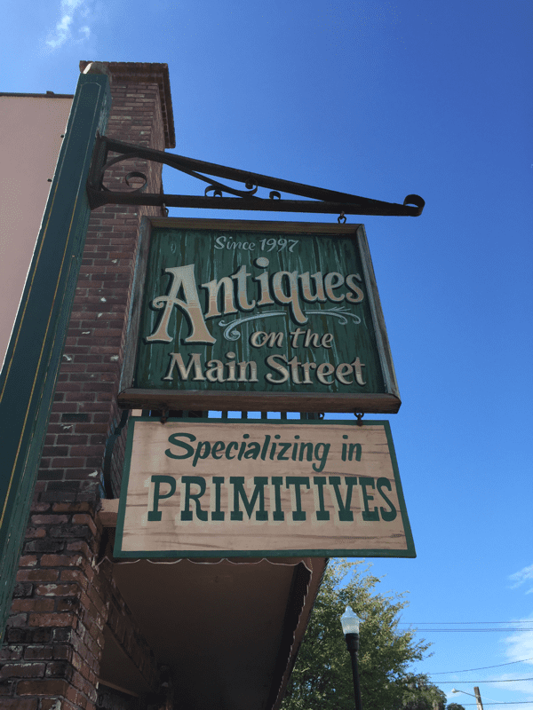 Antique stores abound in Dade City.