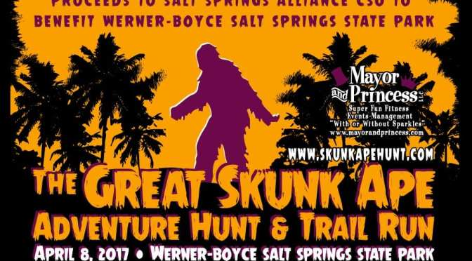 April 8 Great Skunk Ape Adventure Hunt & Trail Event promoting Fun & Fitness