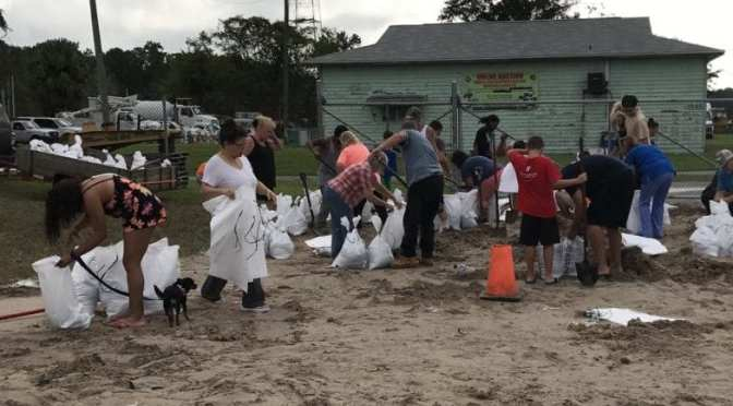 Sandbag Stations Open for Pick-up and Drop-off