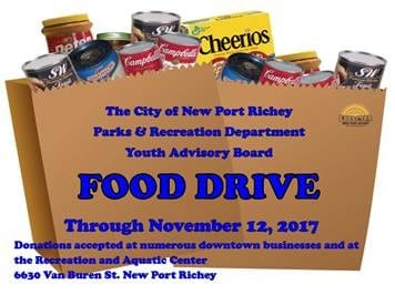 New Port Richey Youth Host Food Drive